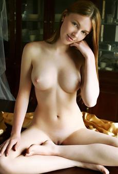 Megan Hot Naked Girl Posing in Bedroom