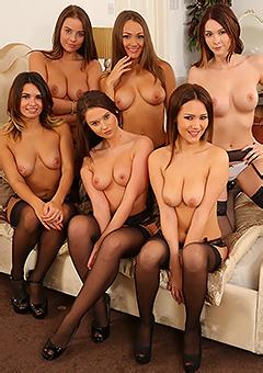 Six Brunettes